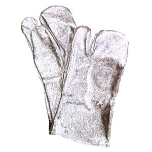 【送料無料】【耐熱・防炎】【アルミ遮熱製品】アルミ 手袋 3本指 A301 サイズ:フリー【32cm】※代引き不可※【NB】