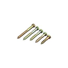 コーチスクリューボルト(ユニクロメッキ) M12×100 (320本/ケース)