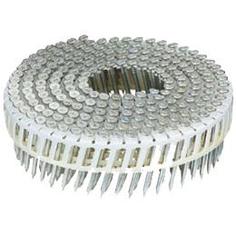 MAX コンクリート釘(斜めタイプ)FCP45V5-Hミニ箱 焼入ユニクロメッキ :200本×10巻×3箱