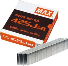 MAX Jステープル(肩幅4ミリ) ステン419J-S 19mm 5,000本(5,000本×20箱/ケース)