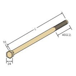 Z M16六角ボルト M16×150 (50本/ケース)