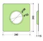 フクビ化学ウェザータイト換気口φ150用 (40セット/ケース)