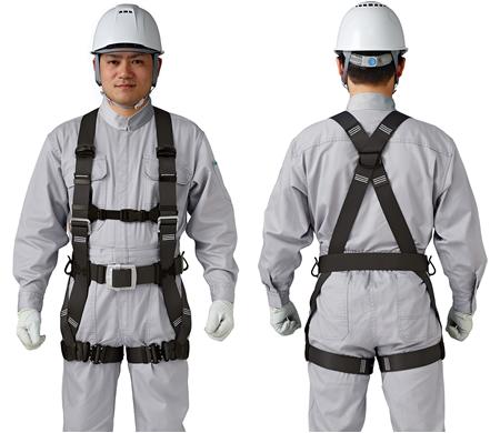 谷沢製作所 タニザワ フルハーネス 匠II ST#571A-SK フリーサイズ ブラック 作業ベルト(軽量バックル)付き 新規格対応 ランヤード別売り