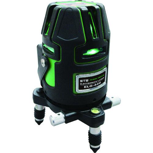 [JSIMA認定店] STS エスティ―エス ELG-440 電子整準式フルライングリーンレーザー墨出器 リチウムバッテリー標準付属