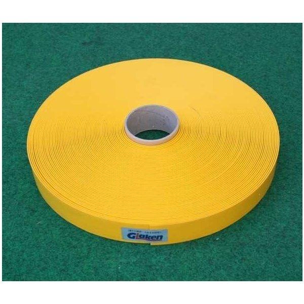 Glaken ブーブーライン(ロールタイプ) 5cm幅 黄 25m巻 BBL5-25G (釘別売り) [駐車場駐 輪場専用ラインテープ 駐車場ライン引き]