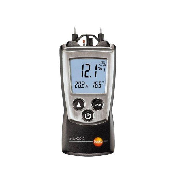 testo テスト― ポケットライン材料水分計 testo606-2 湿度センサ付 [0560 6062 木材 建設資材の含水率計測]