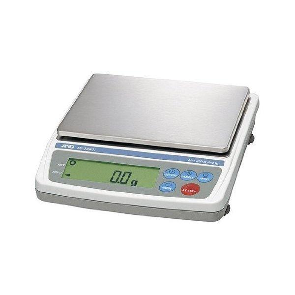 測定用品 デジタル式はかり A&D パーソナル電子天びん EK-3000i (最少目盛0.1g/ひょう量3000g)