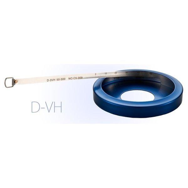 メーカー社内検査成績書付 [送料無料] 日本度器 ダイヤメーターテープ D-6VH 測定範囲250-600mm ステンレステープ 測定物の直径寸法を測る