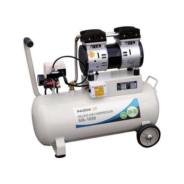 [送料無料] PAOCK パオック オイルレス静音コンプレッサ SOL-1030 最高圧力0.8MPa 再起動圧力0.5MPa タンク容量30L