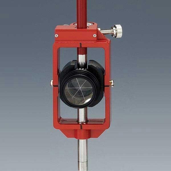 神山製作所 K式ピンポールプリズム2型セット スライド式 定数0mm ワンタッチストップ機構 (落下防止型) プリズム径1インチ [測量 土木 光波用ミラー]
