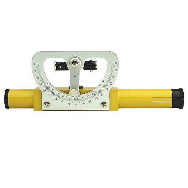 ハンドレベル 望遠高度付 倍率3.5倍 180mm 革ケース付き 40350 [簡易水平器 予備測量 簡易測量 水準器]
