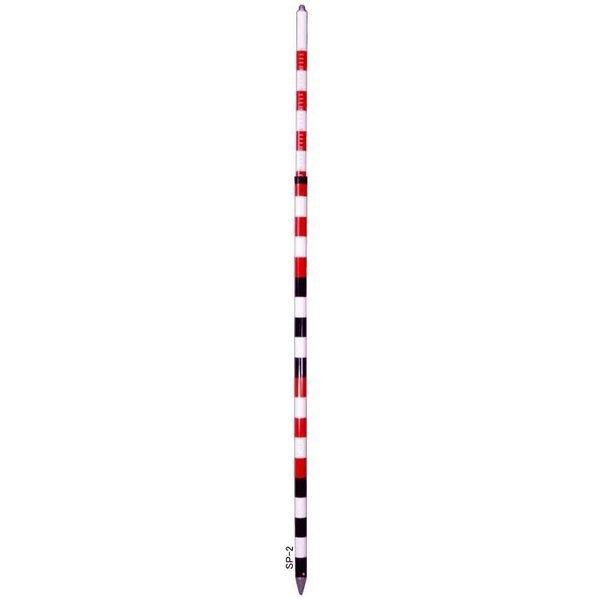STS エスティーエス SP-2 プリズムポール 水準器なし 2m2段伸縮式 [5-SP 測量 土木 測距]
