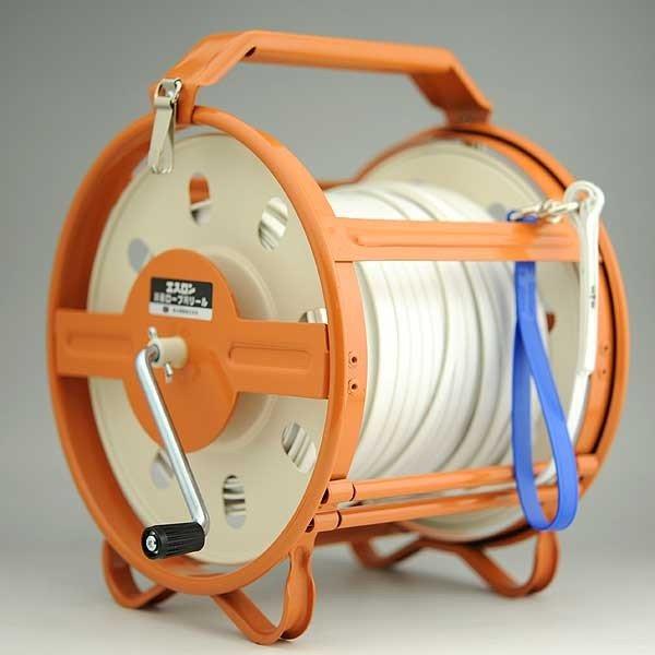 セキスイ エスロン測量ロープ 50mケース付き [山林 水面 港湾測量]