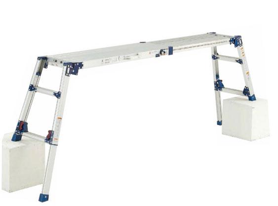 ピカ 4脚アジャスト式足場台 DWV DWV-S120LA 天井スライドタイプ[取手付き] 広く使って小さく収納 ☆送料無料☆即日出荷☆代引き不可☆