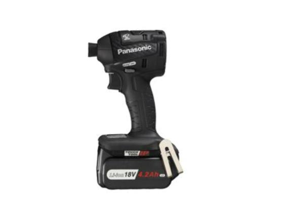 パナソニック Panasonic 充電式インパクトドライバー18V 4.2Ahセット・黒 EZ75A7LS2G-B 電池2個・充電器・ケース付 黒 【期間限定 台数限定】