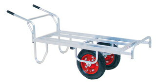 ◆ハラックス HARAX アルミ製 コンテナカー コン助 CN-65DW 平型2輪車 エアータイヤ※メーカー直送のため代引不可、法人のみ配送可(個人様宅には配送できません)