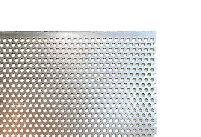 ☆御希望の寸法で切断します☆ パンチングメタル 鉄 SPCC φ3-P5 専門店 男女兼用 60゜千鳥 穴3ミリΦピッチ5 サイズ 800mm×700mm以下 重量 厚さ0.8ミリ 2.35kg以下 御希望の寸法で切断します