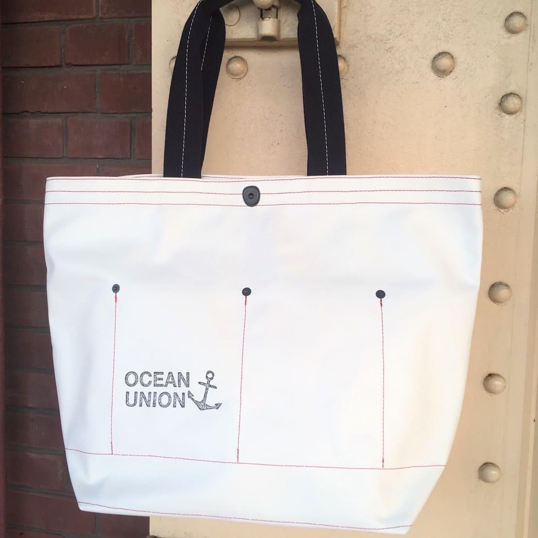 【 横浜帆布鞄 × OCEAN UNION 】 Musette Boat Tote ミュゼット ボートトートバッグ