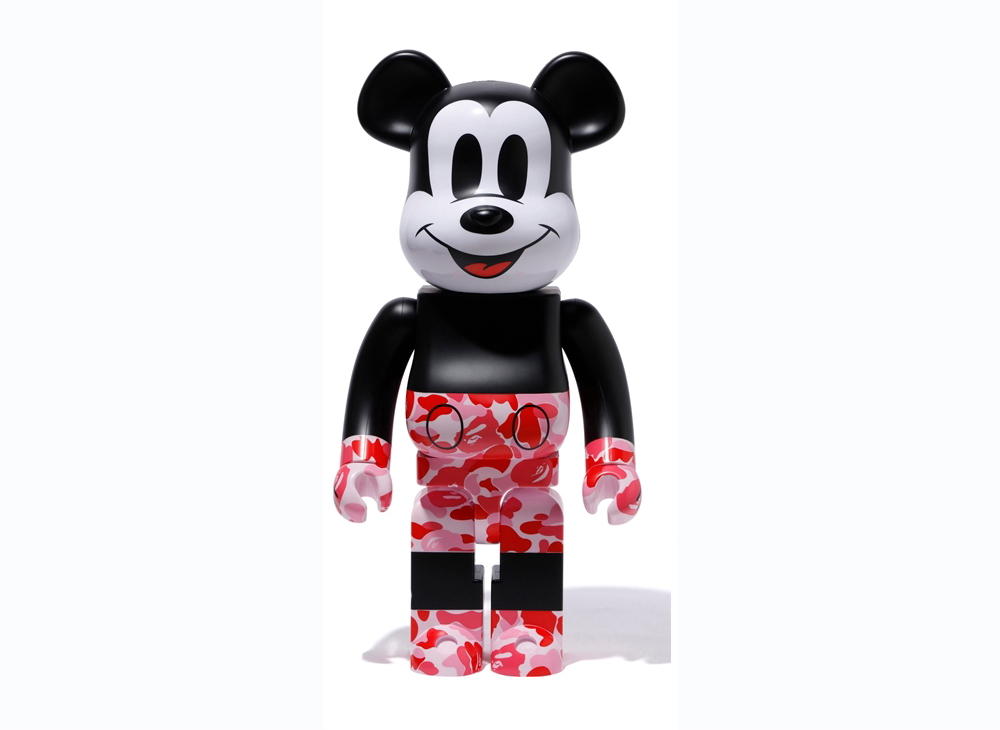 BE@RBRICK BAPE® MICKEY MOUSE 1000% [PINK]A BATHING APE medicom toy