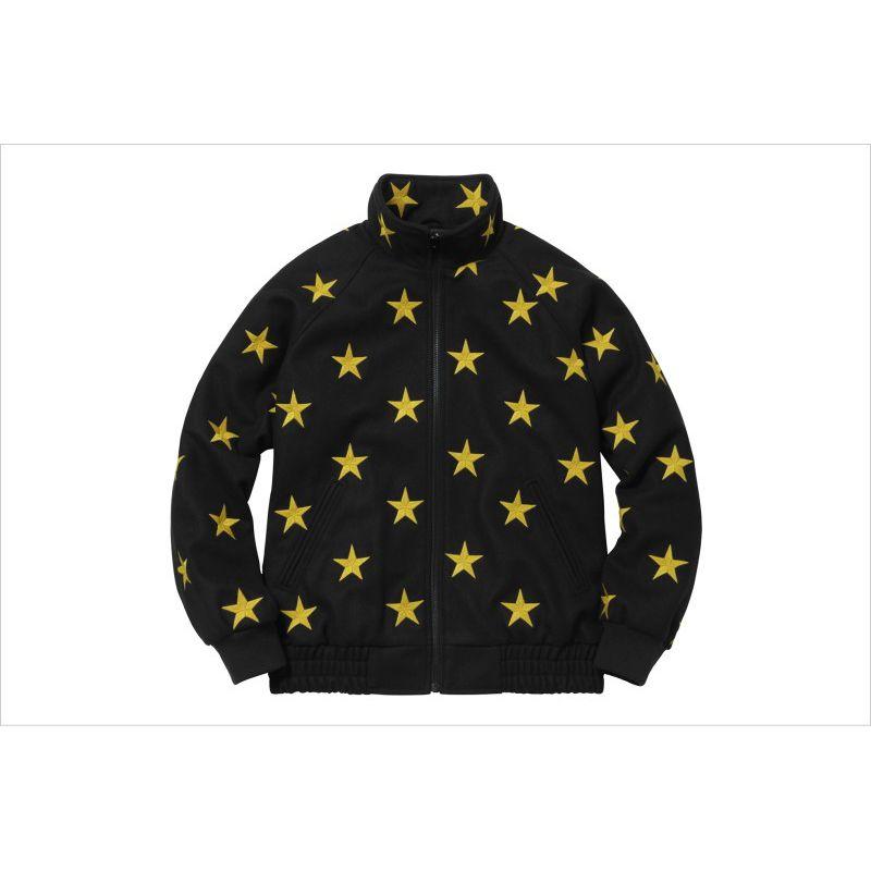 Supreme(シュプリーム)/Stars Zip Stadium Jacket[black/gold] 16 aw ウール スタジアム ジャケット メンズ 新古品【中古】