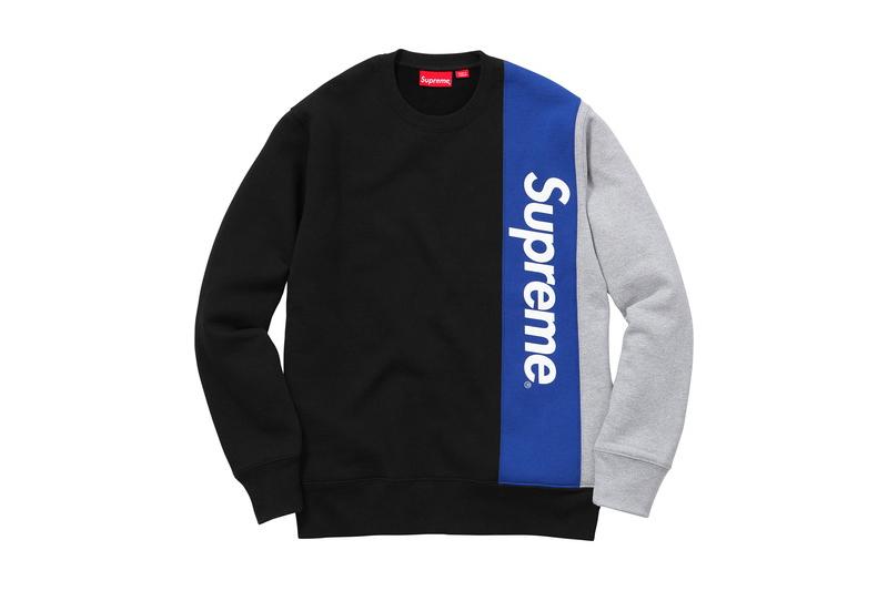 Supreme(シュプリーム)/Panelled Crewneck[Black]2016ss クルーネック スウェットシャツ トレーナー box logo 新古品【中古】