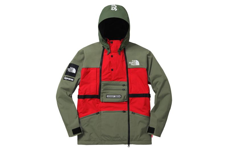 Supreme(シュプリーム) The North Face(ノースフェイス) Steep Tech Hooded Jacket 2016 S/S[OLIVE] メンズ ジャケット 新古品【中古】