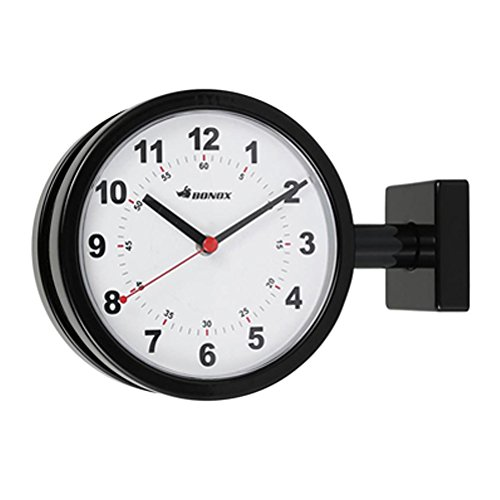 公式 ダルトン セール特別価格 Dulton 掛け時計 ブラック W28.5×D9×H20.5cm ダブルフェイスクロック S624-659BK