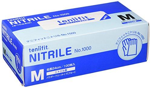 コクゴ teniifit NITRILE おしゃれ 手にフィットするニトリル手袋 100枚入 倉 M No1000