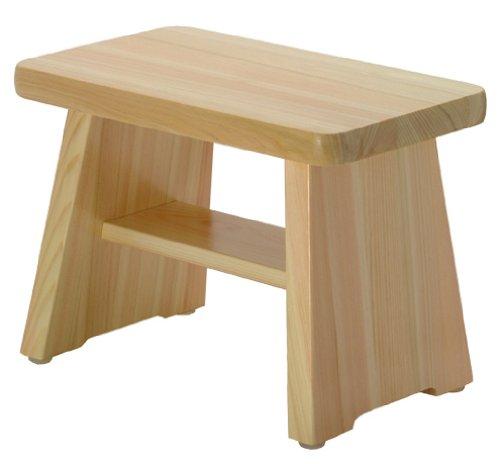 ダイワ産業 風呂椅子 木製 ひのき 日本製 防カビ 撥水加工 ワイドサイズ 24cm IW-24