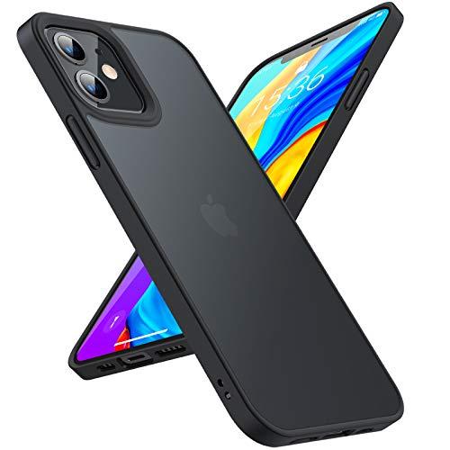バーゲンセール TORRAS 2020モデル 半透明 iPhone 12 用ケース Pro マット感 ストラップホール付き 米軍MIL規格取得 高耐衝撃 SGS認証 黄ば