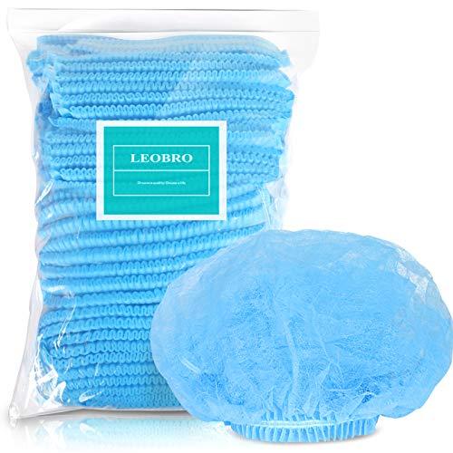 120枚入 LEOBRO ヘアキャップ使い捨て 捧呈 ヘアキャップ ディスポキャップ ブルー 男女 脱毛対策 フリーサイズ 来客用帽子 開催中 通気性良い