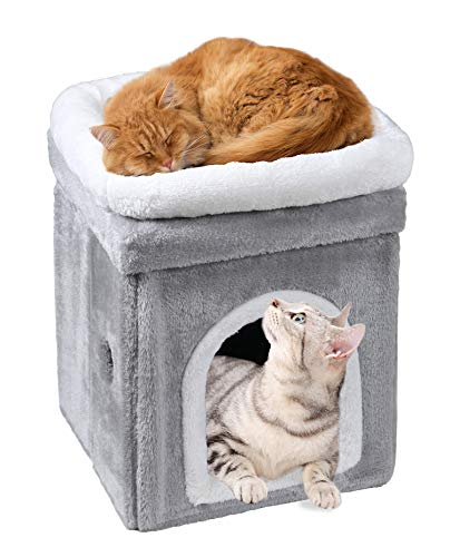 キャットハウス クッション 多頭用 ペット用ソファー 2階 猫ベッド ボックスハウス ペットベッド 最新 ぐ 暖かい 価格 交渉 送料無料 ソフトケージ 寝床 冬用
