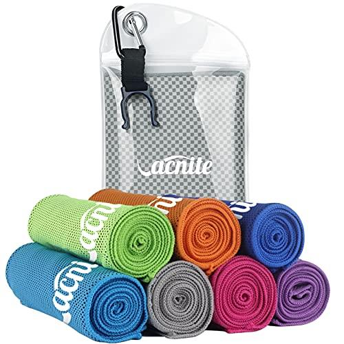 VACNITE クールタオル お気に入 速乾タオル 超吸水 軽量 速乾 ストアー 防水袋付き 14種類選択可能 100×30cm 1枚 熱中症対策