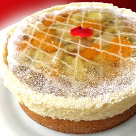 冷蔵 ホール ケーキ ホールケーキ でお届け バースデーケーキ パーティやお誕生日のプレゼントにおすすめ 輸入 φ17cm のケーキ グレープフルーツ メロン エメラルド 売店 ビジュー キウイ ショートケーキ誕生日 ショートケーキ
