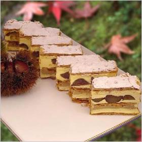 冷蔵 オープニング 大放出セール ホール ケーキ ホールケーキ 商い でお届け ミルフィーユ マロン 約22cm×7cm バースデーケーキ 誕生日 和栗 のミルフィーユ