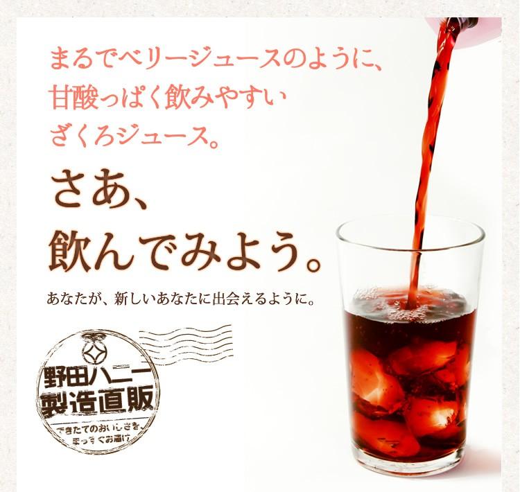 話題のスーパーフード! ざくろ100%ジュース果汁<濃縮還元>1000ml×3本●野田ハニーザクロジュース/ざくろジュースランキング1位