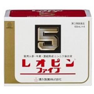 【第2類医薬品】「送料無料」「ポイント15倍」湧永 レオピンファイブW 60mL×4本