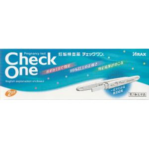 【第2類医薬品】アラクス 妊娠検査薬チェックワン 2回用