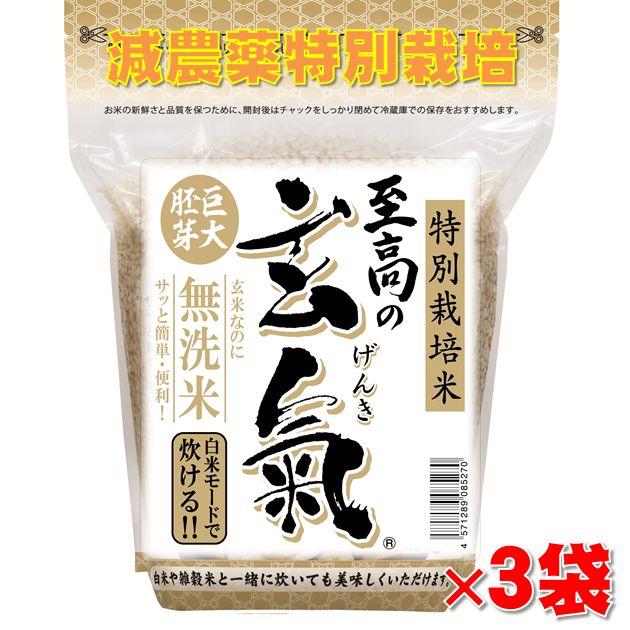 圧倒的に美味しい巨大胚芽米の発芽玄米は白米モードで炊ける無洗米 炊きやすくて食べやすい巨大胚芽米の玄米を氷温貯蔵で熟成 至高の玄氣 ラッピング無料 1.5kg×3袋 4.5kg 真空パック 沖縄県は1000円加算 割引も実施中 氷温貯蔵で熟成 巨大胚芽の発芽玄米白米モード炊ける無洗米の発芽玄送料無料 特別栽培