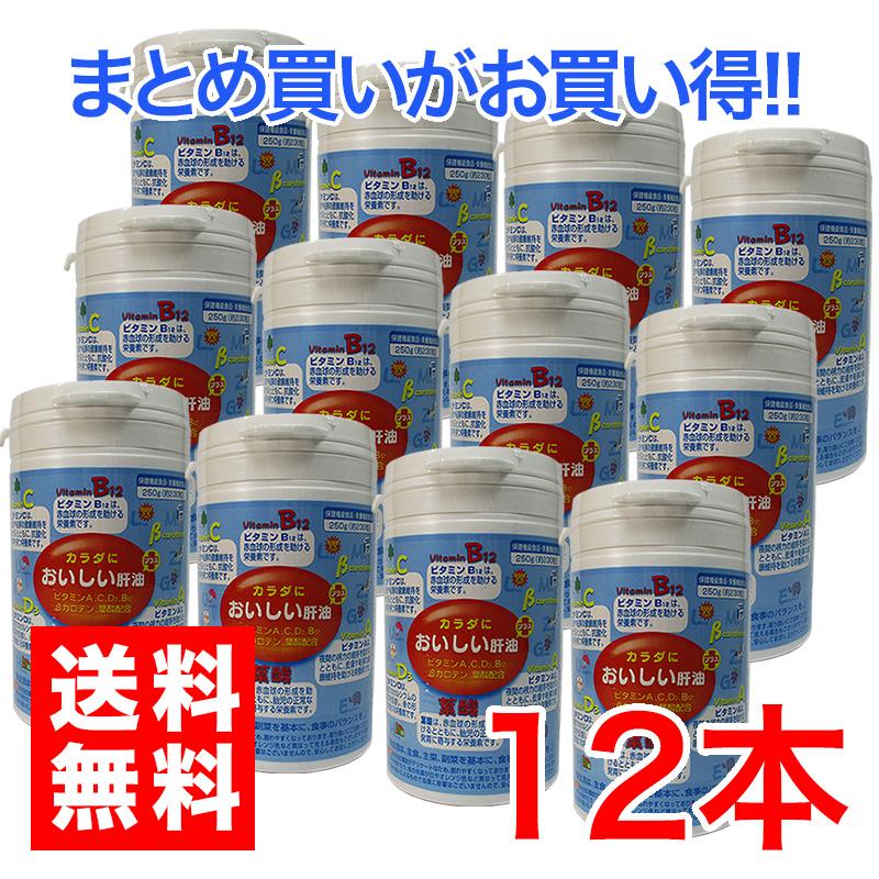 カラダにおいしい肝油 プラス 12個セットビタミンC 葉酸 カルシウム促進ビタミンD β―カロテン配合お子様栄養バランス 健康食品