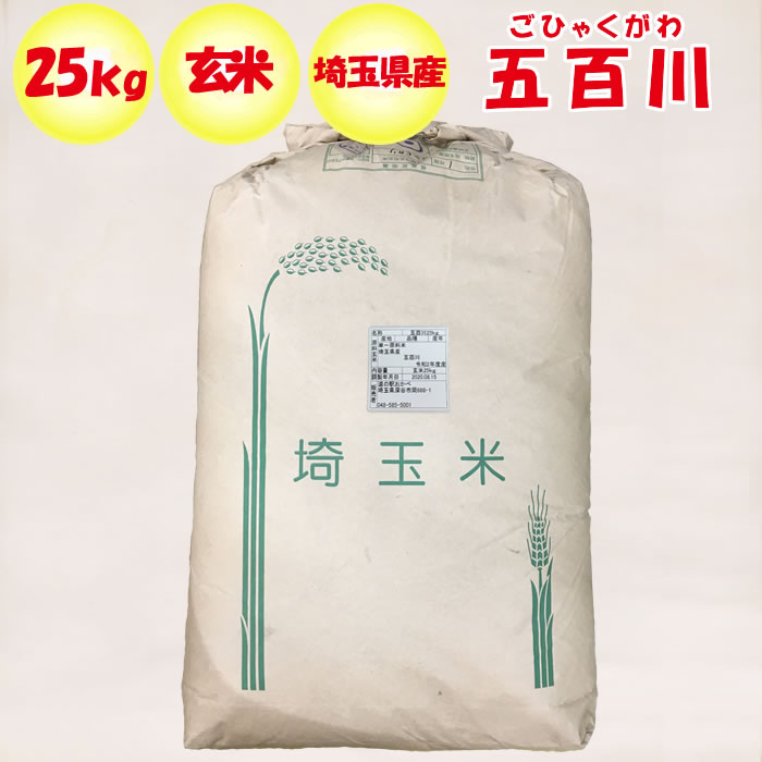 新作 こちらの商品は玄米での出荷となります ご自身で精米できる方専用です 五百川は 埼玉で一番早く採れるお米です 新米ならではの香りとコシヒカリ系の旨味が特徴です 埼玉県産五百川25kg 九州は+800円 玄米 送料無料 但し北海道 販売者:道の駅おかべ 買い取り 調理素材