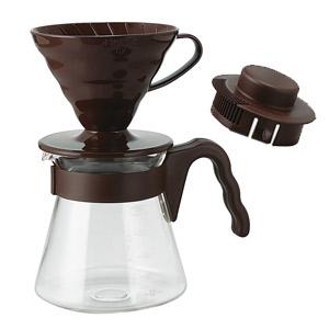 设置巧克力棕色 VCSD 02CBR (Hario) HARIO V60 咖啡服务器 02