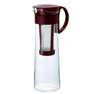 HARIO ハリオ のオシャレ水出しコーヒー 珈琲 ポット 水出し珈琲 ご注文で当日配送 永遠の定番モデル コーヒー MCPN-14CBR ショコラブラウン 1 ボトル アイスコーヒー 000ml 8杯用