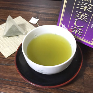 国産茶葉100%使用 高級煎茶 ティーバッグ ハラダ製茶 高級煎茶ティーバッグ メール便不可 全国一律送料無料 静岡深蒸し茶 高級品 ナイロンテトラTB 10P