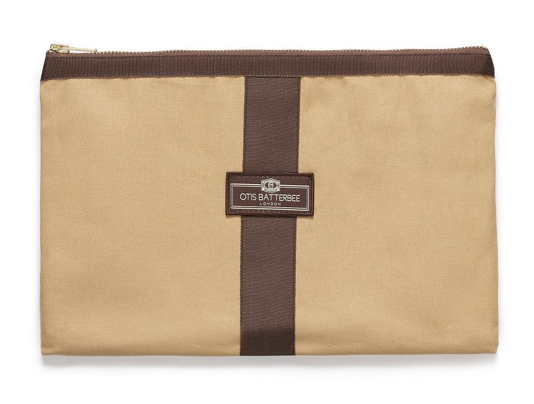Otis Batterbee A4トラベルポーチ iPad タブレット収納/ゴールドキャンバス【イギリス製】