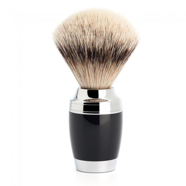 ミューレ STYLO シェービングブラシ/ブラックレジン(091K76)【髭剃り ひげ剃り シェービングブラシ 髭ブラシ はけ アナグマ毛 男性化粧品 メンズスキンケア】