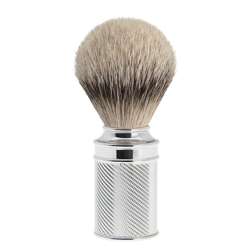 ミューレ TRADITIONAL シェービングブラシ/メタル (091M89))【髭剃り ひげ剃り シェービングブラシ 髭ブラシ はけ アナグマ毛 男性化粧品 メンズスキンケア】
