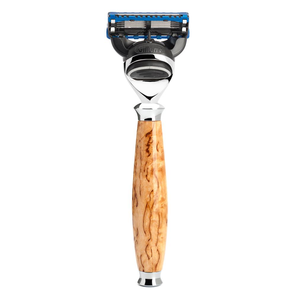 ミューレ PURIST レイザー/カレリアンバールバーチ 替刃:Fusion (R55F)【髭剃り ひげ剃り カミソリ かみそり ジレット フュージョン 剃刀 Fusion 高級 男性化粧品 メンズスキンケア】