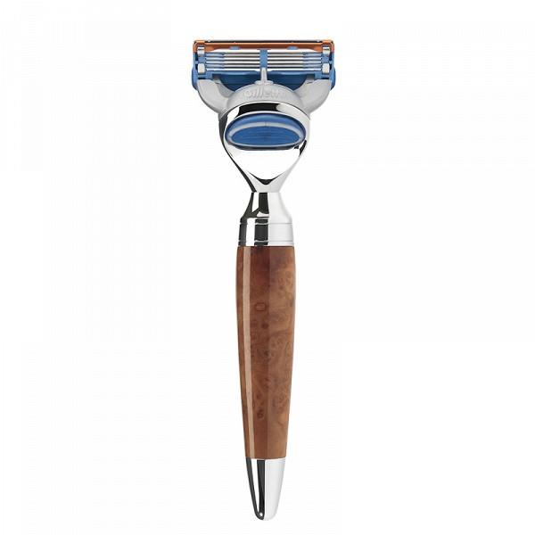 ミューレ・スタイロ レイザー(かみそり)/ツジャウッド 替刃:ジレットFusion (R71F)【髭剃り ひげ剃り カミソリ かみそり ジレット フュージョン 剃刀 Fusion 高級 男性化粧品 メンズスキンケア】