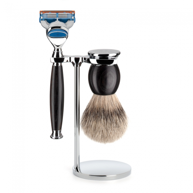ミューレ SOPHIST シェービングセット/ブラックウッド 替刃:Fusion (S93H85F) 【髭剃り ひげ剃り カミソリ かみそり シェービング 剃刀 ジレット スタンド シェービングブラシ シェービングセット 天然木 高級】